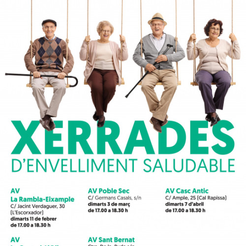 Cartell xerrades envelliment saludable 2020