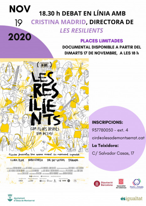 "25N cartell documental ""Les Resilients"""