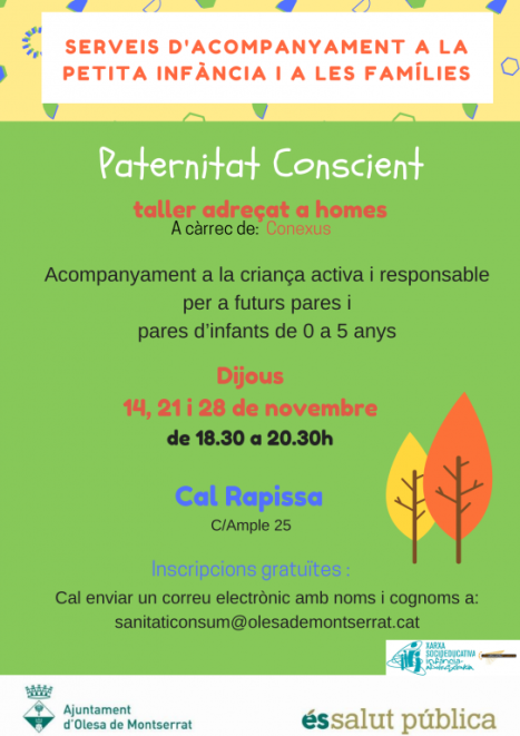 Taller adreçat a homes sobre paternitat conscient
